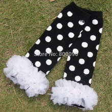 Wholesale Child Candy Color Knee pad Socks Leg Warmer Ruffles legwarmer Girl legging infant protectors Free Shipping(China)