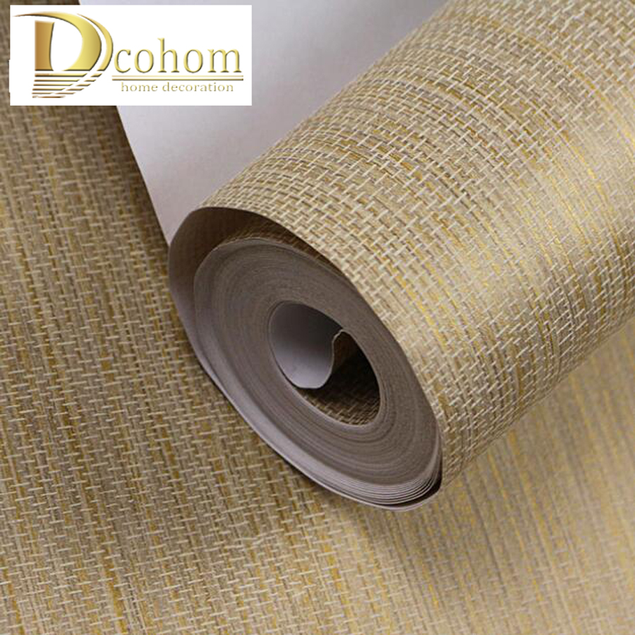 Chinese 3D Straw Textured Wallpaper For Walls Striped  Wall Paper Rolls For Bedroom Living Room Sofa TV Background Decor<br>