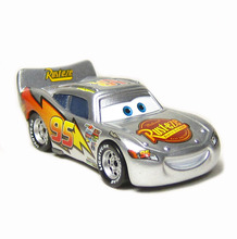 Disney Pixar Cars Silver Generation of McQueen Genuine Car Chiefs Alloy Model Toys1:55(China)