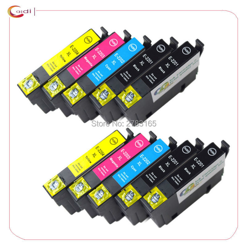 10Pack Compatible for Epson WorkForce WF-2630 WF-2650 WF-2660 XP-320 XP-420 printer ink  Epson 220xl T220 ink cartridge