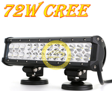 1pcs 72W  LED work light core automotive engineering strip lights spotlights off-road lights