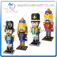 Mini Qute ZMS The Nutcracker United Kingdom British soldiers Diamond building blocks bricks action figure model educational toy(China)