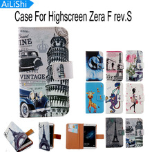 AiLiShi Optional Elegant Cartoon Flip Cover Skin Pouch With Card Slot PU Leather Case Phone Case For Highscreen Zera F rev.S(China)