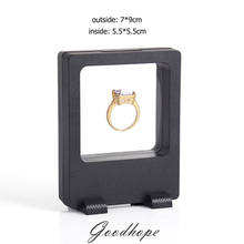 New Style PET Rectangular Elastic Membrane Jewelry Display Box Pearl Diamond Watch Fashion Jewellery Packaging Showcase 7*9cm