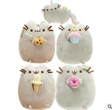 Free shipping Kawaii New Cat Cookie & Icecream & Doughnut 5 Styles Stuffed & Plush Animals Toys for Friend(China)