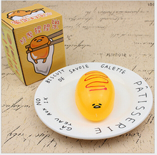 HOT Gudetama Lazy Yellow Egg Yolk Vent Stress Relief Gift Adult PU Toys   Support Drop Shipping