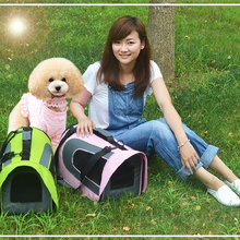 Pet Carrier Dog Bag Pet Airline Approved Carrier for Puppy Cat Small Animal Transport Bag Carriers Travel Tote Shoulder Pack Bag(China)