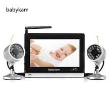 Buy Babykam video baby monitor 7.0 inch LCD Digital 2.4 GHz IR Night vision Max 4 camera baba electronics detector fetal doppler for $40.00 in AliExpress store