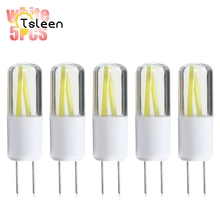 Cheap New arrival G4 LED Bulb SMD COB mini G9 LED lamp 220V Chandelier Replace Halogen light dimmable lamp bulb 5pcs/lot(China)