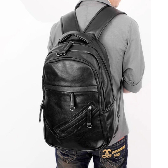 ETN BAG hot sale brand high quality men leather backpack male fashion travel backpack man laotop bags<br>