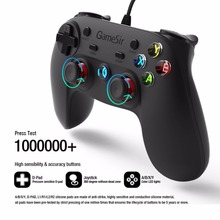 Gamesir G3w Wired Gamepad Controller Dual Vibration Controller For Android Smart phone for TV Box For Windows PC With Holder(China)