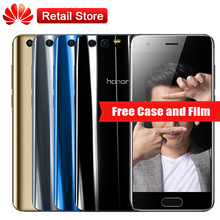 "Huawei Honor 9 AL00 4GB RAM 64GB ROM 5.15""Octa Core Android 7.0 1920*1080 3200mAh 3 Cameras Mobile Phone NFC OTG Fingerprint(China)"