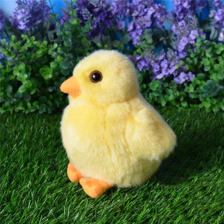 14CM Small Yellow Chicks Plush Toys Simulation Hen Chicken Stuffed Animal Toys Christmas Gifts 2pcs/set<br>
