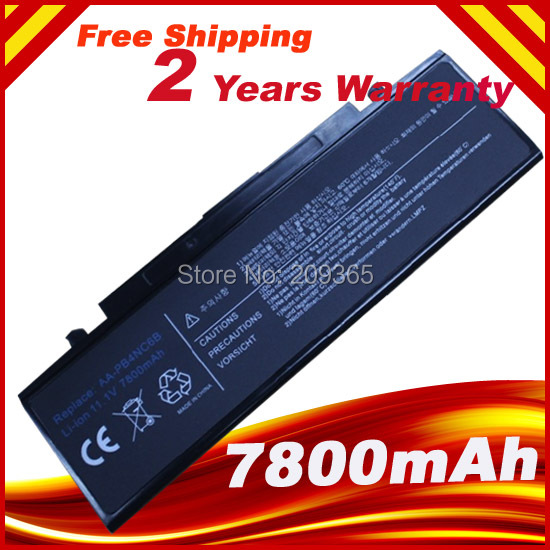 7800mAh 9 Cells  Laptop battery for SAMSUNG R460 R510  R65 R70 R700 R710 Q310 Q210 NP-R40 NP-R45 P50