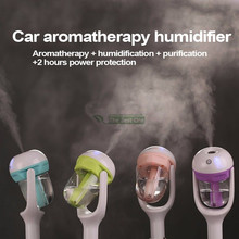 Car Aroma Diffuser Humidifier Portable Mini Car Aromatherapy Humidifier Air Fresher Purifier 50ml Essential Oil Diffuser