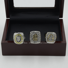 Wooden Box With Replica MLB San Francisco Giants Set (2010/2012/2014)Major League Baseball Championship Ring Set Size 11
