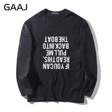 T Shirt Men If you can read this pull me back into the boat Casual Clothes Man & Women Unisex Long Sleeve Print Funny Letter(China)