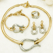 High Quality Christmas Jewelry Italy Designer Dubai Jewelry Sets Gold Silver Snake Necklace Women Bridal Jewelry set Jewelry Box(China)