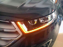 , CHA FOR 2015 16 EDGE ANGEL EYE COMPLETE HEADLIGHT V1, WITH RUNNING LED TURN SINGAL, AND Q5 BI-XENON PROJECTOR