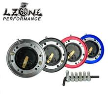 LZONE RACING - Thin Version 6 Hole Steering Wheel Quick Release Hub Adapter Snap Off Boss kit JR3858