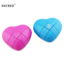 Brand New 3x3 Heart Magic Cube Puzzles Strange-Shaped Love Cube Valentine Day Children Toy Gift for Kid