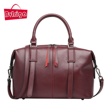 BVLRIGA Luxury handbags women bags designer famous brand women leather handbags genuine leather bag high quality boston tote bag