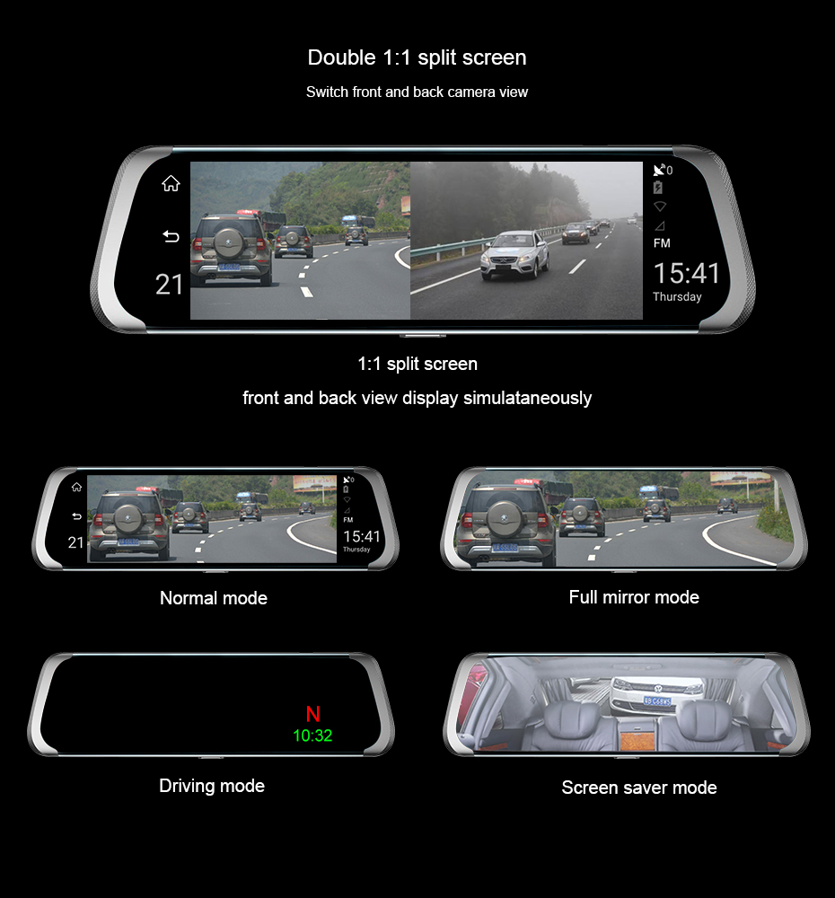 HTB1bvuWsyCYBuNkHFCcq6AHtVXa9 - Car DVR 4G Full HD 1080P Android Rear View Mirror Camera