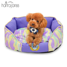 HANTAJANSS Fashion Camo Pet Beds Warm Kennel House Comfortable Cama Para Cachorro Mat High Quality Large Dog Bed Pet Supplies(China)