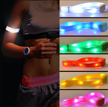 1 piece Awesome Party Glowing Bracelet LED Flash Bracelet Wrist Ring Nocturnal Warnings Ring Running Gear Glowing Armband 2