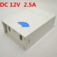 Waterproof Outdoor CCTV Power Supply DC 12V 2.5A Power Adapter Power Switch US EU UK for cctv camera