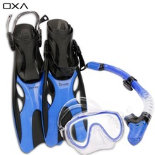 New Adult Adjustable Diving Long Fins Snorkeling Foot Flippers Swimming Scuba Diving Mask Snorkel Set Dive Fins