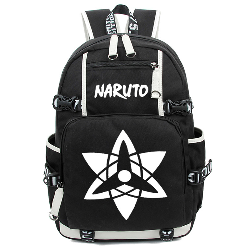 Japan Anime Naruto Write Round Eye Shoulder Bags for Students Casual Women Men Large Rucksack Laptop Backpack Free Shipping<br><br>Aliexpress