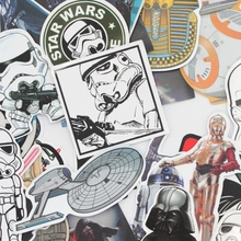 26pcs No repeated funny star wars stickers for laptop decal fridge skateboard PVC stickers for Travel Suitcase(China)