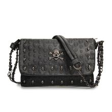 New Fashion Women Messenger Bag Ladies Crossbody Skull Shoulder Bags Mini Envelope Purses Handbags Sac A Main Femme De Marque