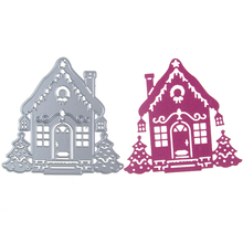 91*87mm Christmas House Metal Carbon Steel Cutting Dies 3D DIY Scrapbooking Sharp Craft Die Photo Invitation Cards Decoration(China)