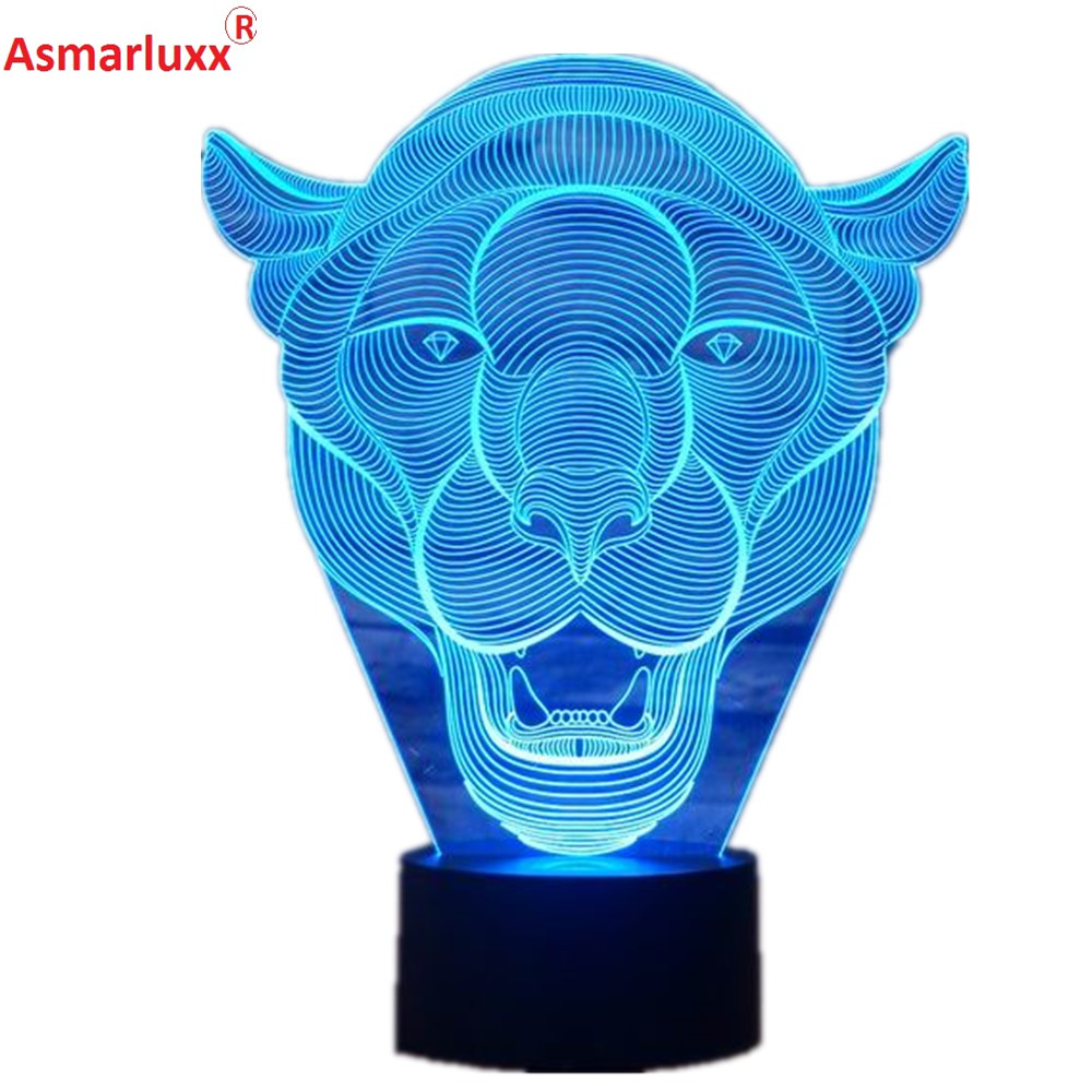Lion Face 3D LED Light 1_