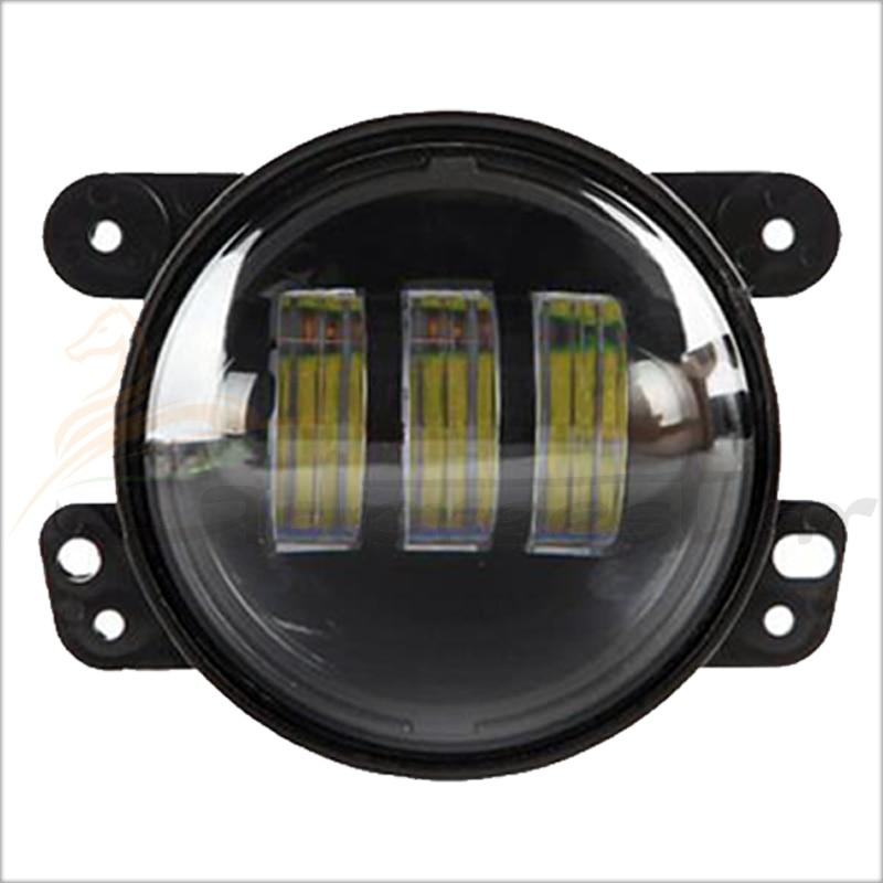 2016 New 4 Inch Round Led Fog Lights 30W Projector lens 12V Driving Led Headlight Fits Offroad Wrangler Jk Front Bumper Lights<br>