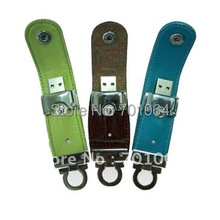 10pcs/lot Hot best selling 16GB real capacity popular leather USB flash drive(Hong Kong)