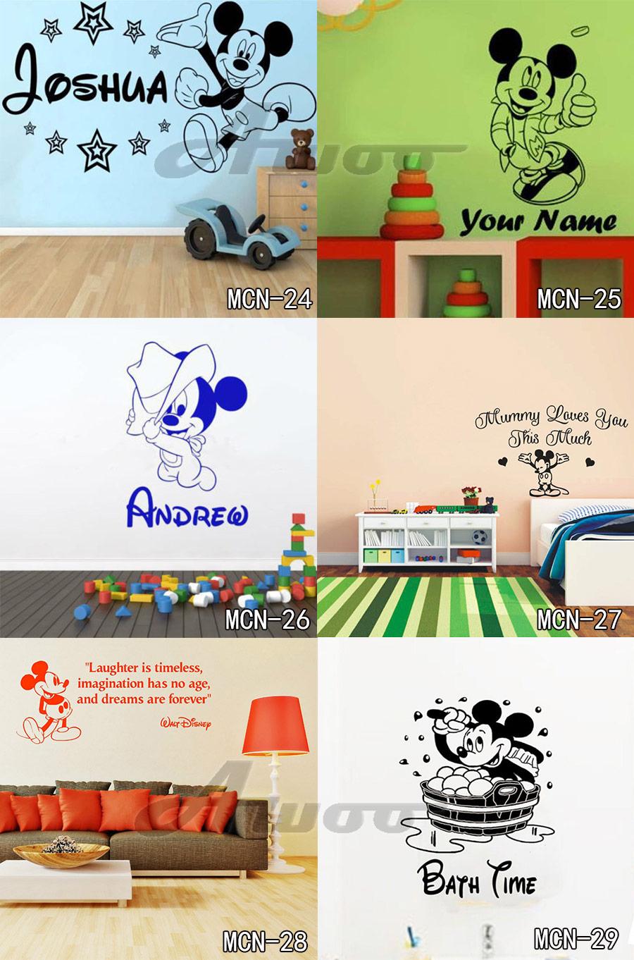 HTB1bw4uRpXXXXa3aXXXq6xXFXXXO - Baby Mickey Mouse Warm Custom Name Wall Sticker For Kids Room
