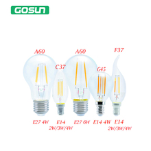 220V Enough Watts 2W/3W/4W/5W/6W/7W Led Bulb 120 lumen/watt Filament Chandelier Candle lamp E14 E27 Low radiation light