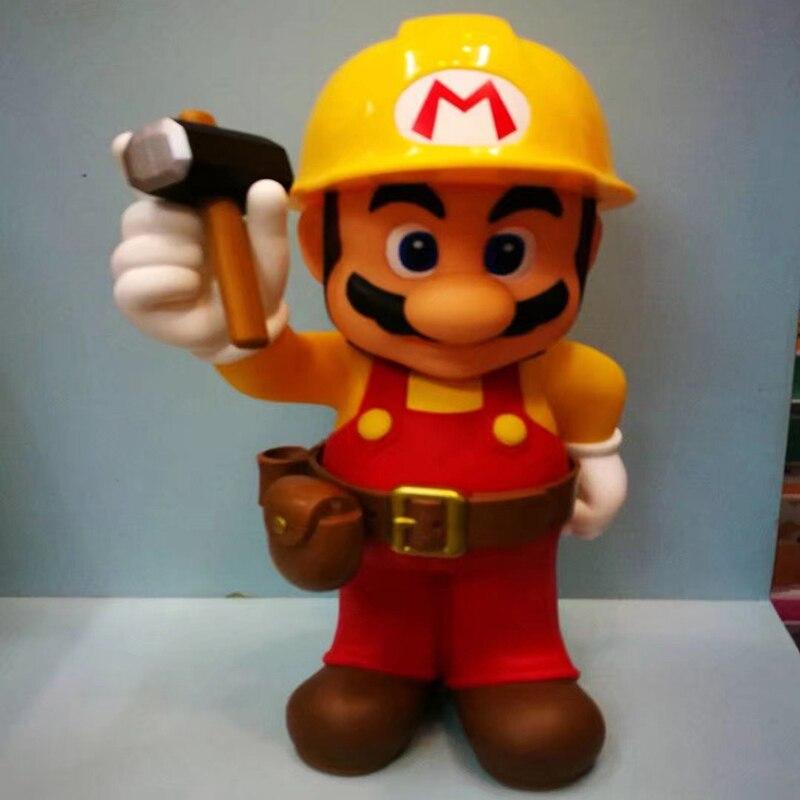 Free Shipping Super Mario Action Figure 30th Anniversary Mario Repairman Doll PVC figure Toy Brinquedos Anime 30CM<br>