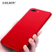 Buy USLION Ultraslim Rubber Paint Phone Case iPhone 7 7 Plus Solid Color Cases Soft TPU Back Cover Coque iPhone 7Plus for $1.34 in AliExpress store