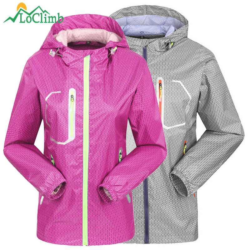 LoClimb Camping Hiking Clothing Men Women Waterproof Climbing Sport Jacket Outdoor Cycling Rain Coat Trekking Windbreaker,AM144(China (Mainland))