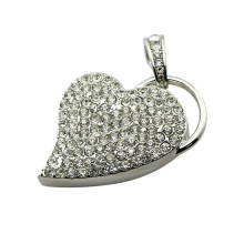 Heart USB Flash Memory Stick USB 2.0 Flash Pen Drive Business Gift Crystal Necklace USB Flash Drive 32GB 16GB 8GB 4GB