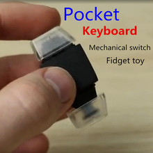 New Pocket Keyboard Mechanical Switch Fidget Toy Autism And ADHD Rotation Time Long Anti Stress ABS Material Finger Gyro Gift