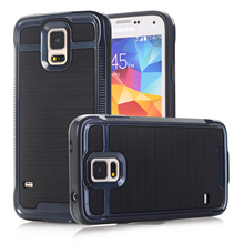 Case For Samsung Galaxy S3/S4/S5/S6/S7/Note 3/4/5 Luxury Brushed PC+TPU Hard Phone Cases Cover w/Screen Protector Film