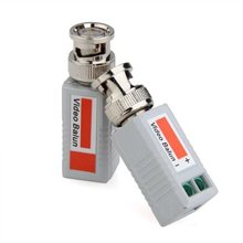 HFES Hot 2 x Video Balun BNC DVR UTP CAT5 Passive Transmitter for CCTV/ Security Camera(China)