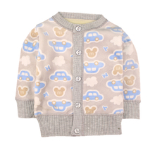 Spring Baby Girls Sweaters Toddler Boys Velvet Cardigan Sweater Kids Warm 3D Cartoon Outerwear Baby Pullover Winter Clothes(China)