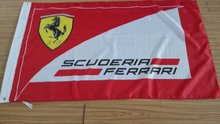 Free Shipping 1 unids Hot 100% polyester 3 x 5 foot flag famous Italian car Fer 90 * 150 Cm Custom red party flags and banners