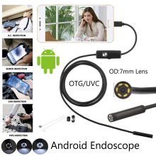 Android Endoscope Camera For Smartphone Snake Usb Inspection Boroscope Car Ear Detection 7.0mm 6led 1m 2m 3.5m 5m Cable Length
